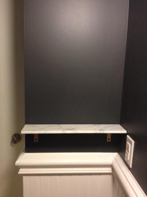 DIY Marble Shelf Complete