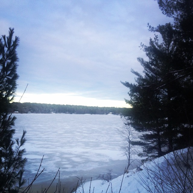 Winter on the French River.