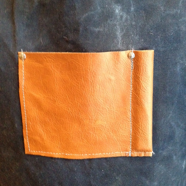 Leather Waxed Cotton Apron