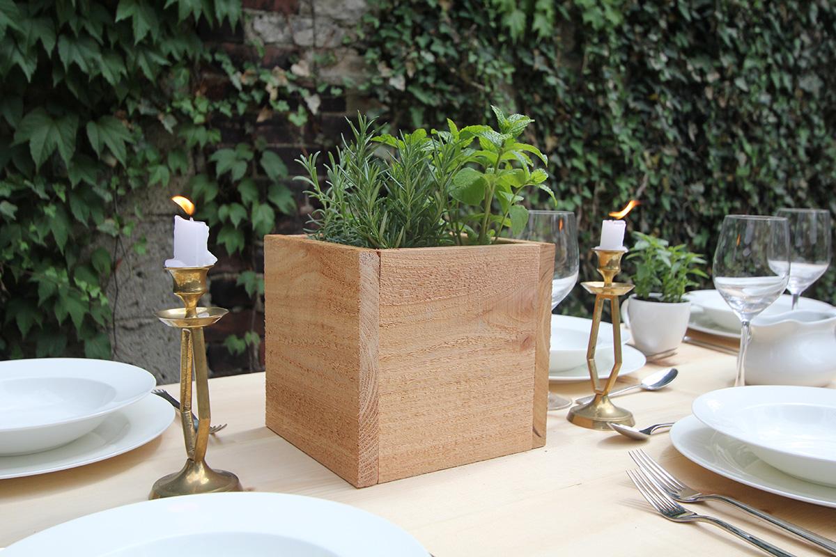 cedar herb planter